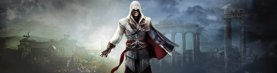 Assassin's Creed The Ezio Collection<br /><span><a href='http://www.assassinscreed.de/the-ezio-collection'>Die Ezio-Trilogie jetzt als Remake für PS4 & Xbox One!</a></span>