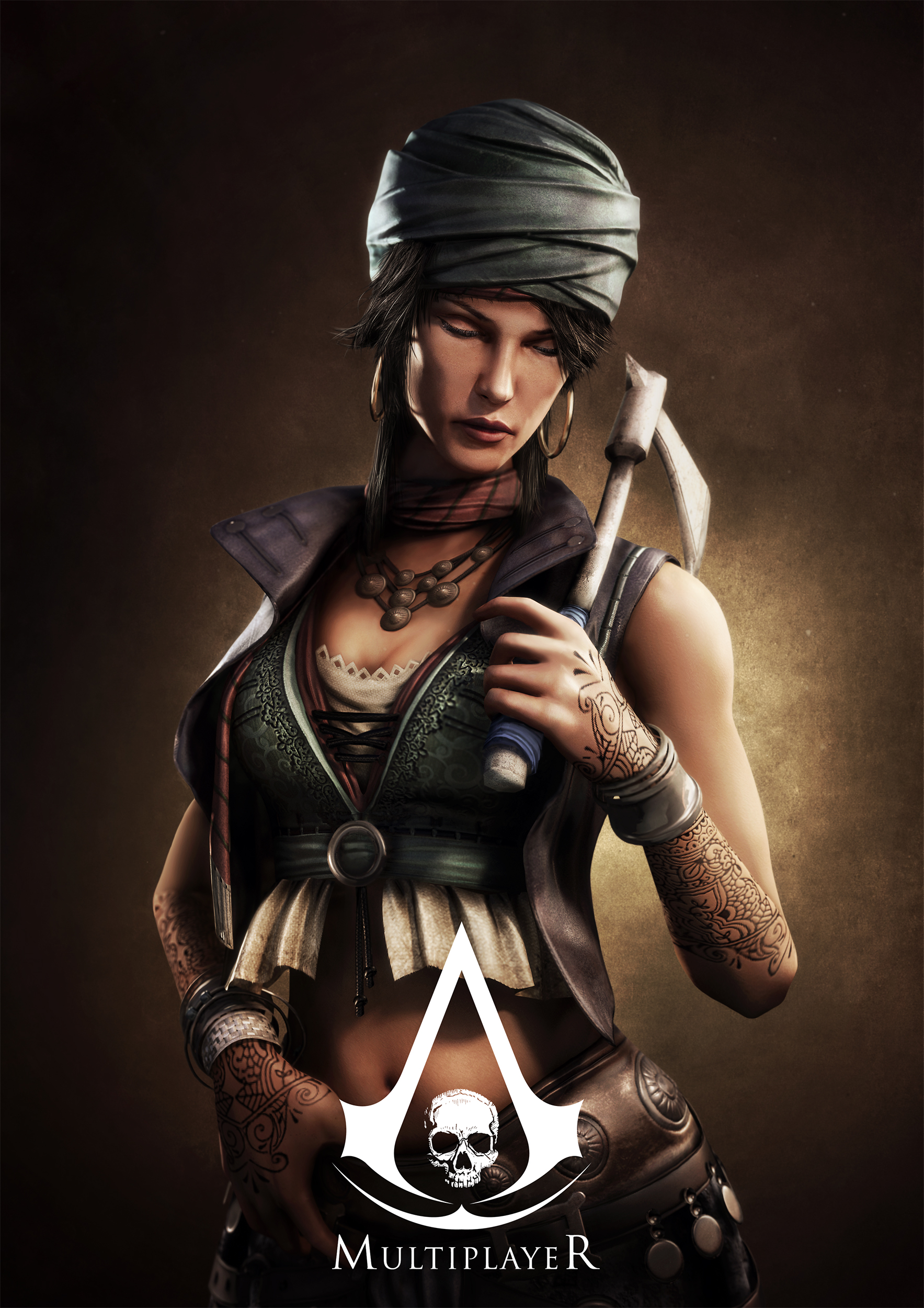 Lady black from assassin's creed 4 online  naked image